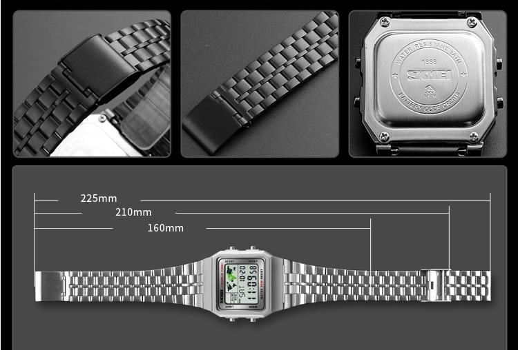 2018 dernière conception de sport OEM or japon movt montre numérique résistant à l'eau Western montre homme relojes