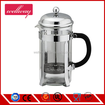 8 Cup/4 Mug Stainless Steel senseo coffee maker 1 Liter | 34 Oz Coffee and Tea Pot With Heat Resistant Glass/Carafe
