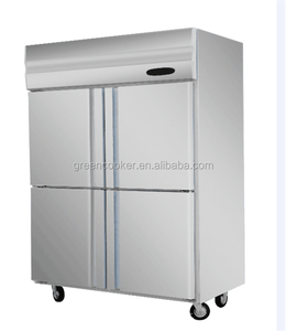 luxury stainless steel kitchen refrigerator four small doors