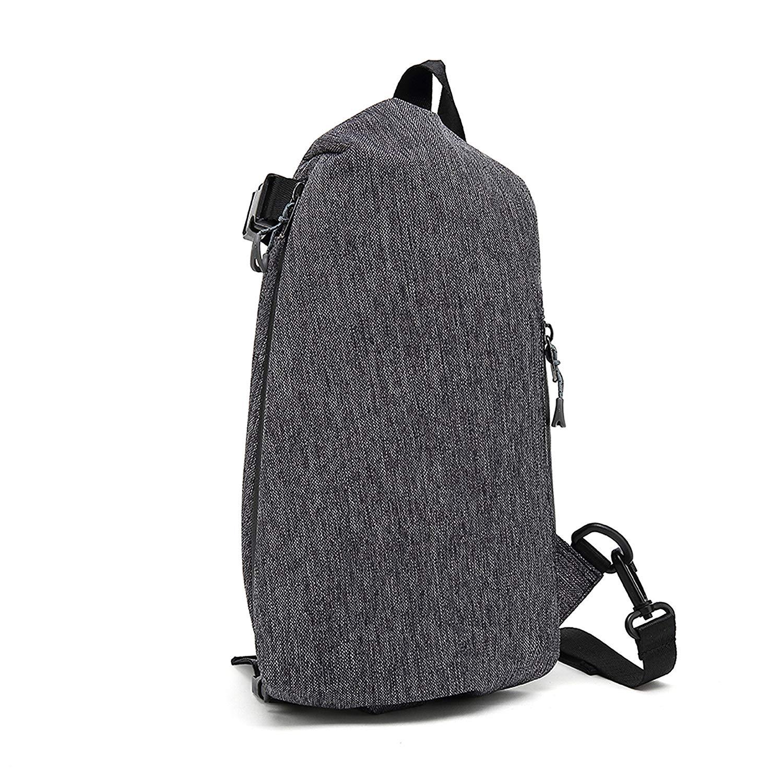 Get Quotations · IHONEY Water Repellent Outdoor Shoulder Chest Pack Cross-Body  Sling Bag for Men Travel Day 6c0b2d87ec0de