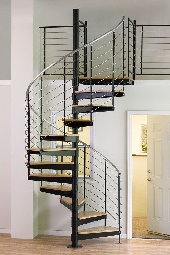 Contemporary Iron Wood Spiral Staircase,cheap Price Iron Spiral Staircase,curved  Iron Glass Staircase