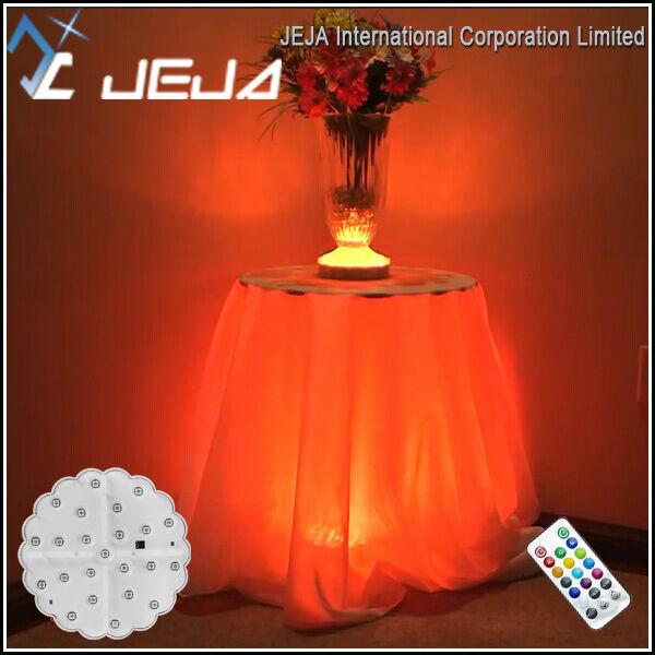 Wedding Ruffled Table Skirt Led Lights, Special Ruffled Table Skirt With  Changing Color Lights
