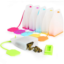 2017 Creative Silicone Tea bag Shape Silicone Tea Infuser Tea Strainer