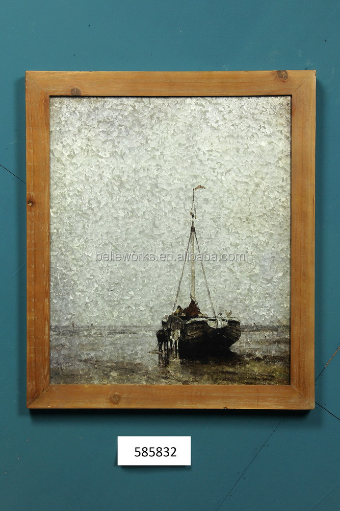 Popular Wooden Framed Art,Galvanized Picture