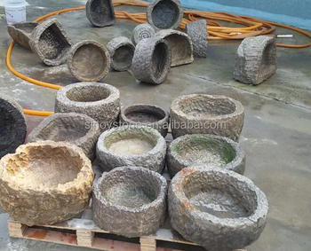 Chinese Antique Outdoor Garden Stone Trough