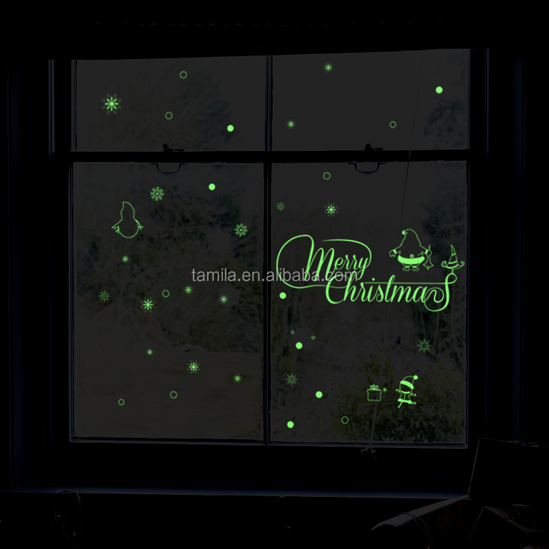 Kids Bedroom fluorescent glow in the dark stars wall stickers art christmas stickers