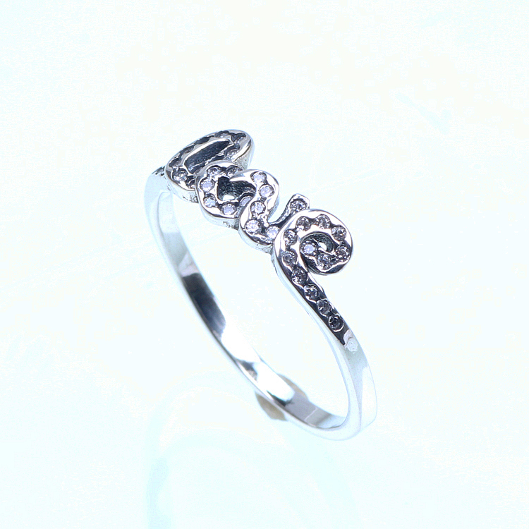 Love Design 925 Sterling Silver Rings Jewelry For Women