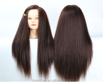 Human Hair Training Maniqui Head For Hairdresser Hairdressing Doll Heads Manikin