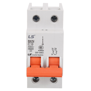 Best quality 2 pole mcb bkn miniature circuit breaker 1 2 3 4 6 10 16 20 25 32amp