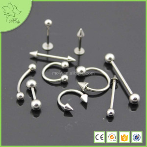 Free sample silver 316L stainless steel belly button ring jewelry for navel piercing for wholesale