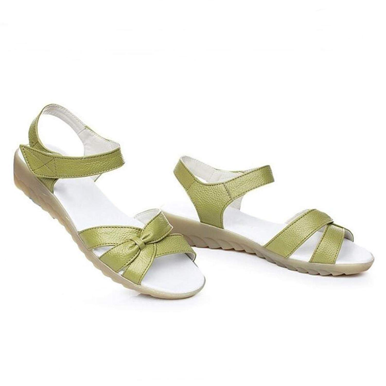 Comfortable Soft genuine Leather shoes Summer Women Sandals Large Size Non-slip flat sandals Fashion Shoes