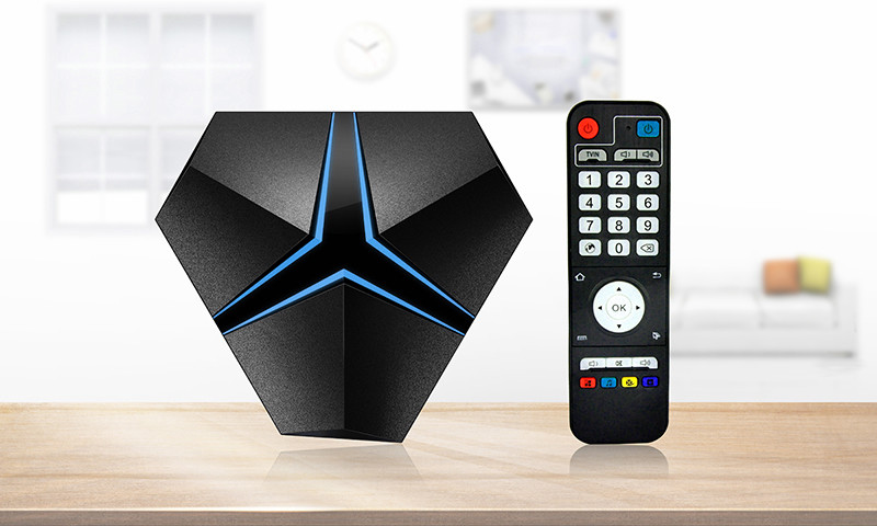 HOT magicsee iron+ 4K UHD fast speed streaming tv box DDR4 S912 3+32GB set top box . Android 7.0 netflix tv android tv box .