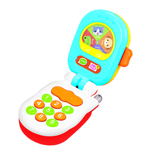 Eco-friendly plastic cartoon musical mini baby toys phone