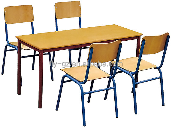 Cheap Elementary School Desk With Chairs / Children Classroom Furniture Set