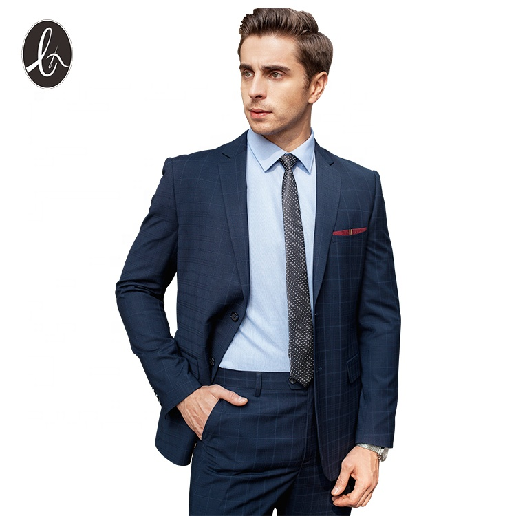 In stock slim fit pant suits tailored fit business suits for men фото