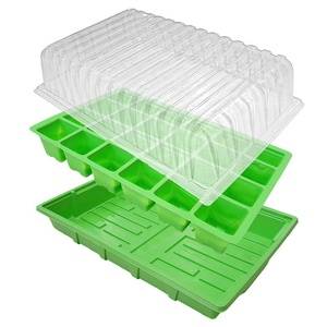 24-Cell Basic Propagator Seed Starting Green House Grow Kit Garden Seed Starting Trays