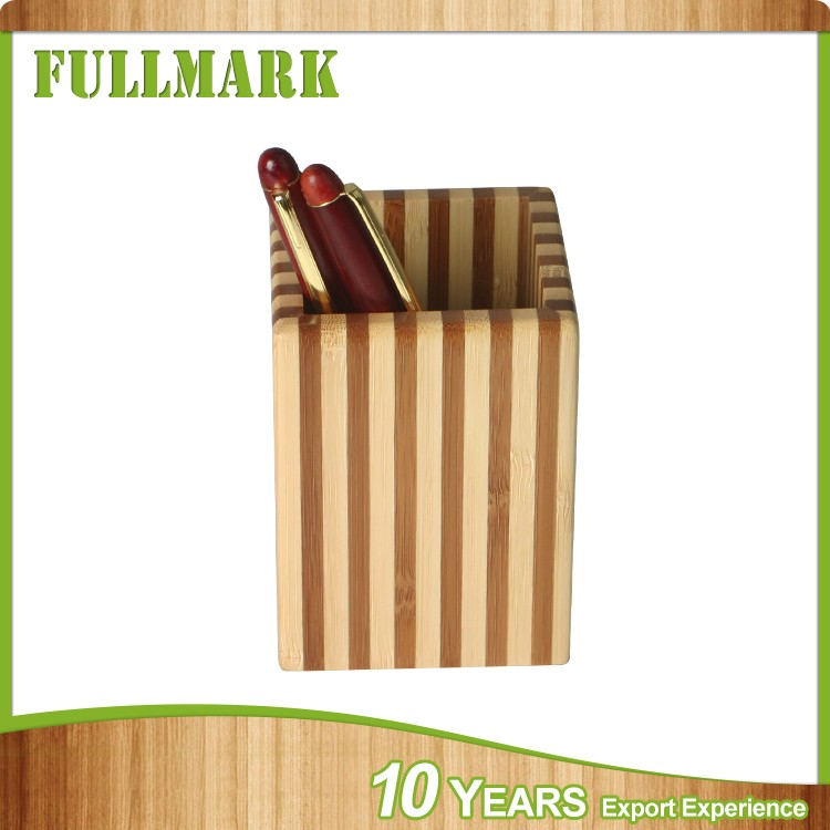 Elegant recyclability new product in china wooden pen holder