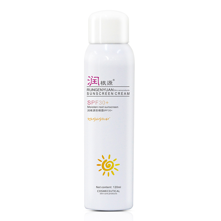 SPF46 shadow Suncream spray voor vette huid