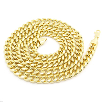 14k Gold Finish Hip Hop Chain Mens 36 Inch Miami Cuban Curb Chain 10mm Necklace
