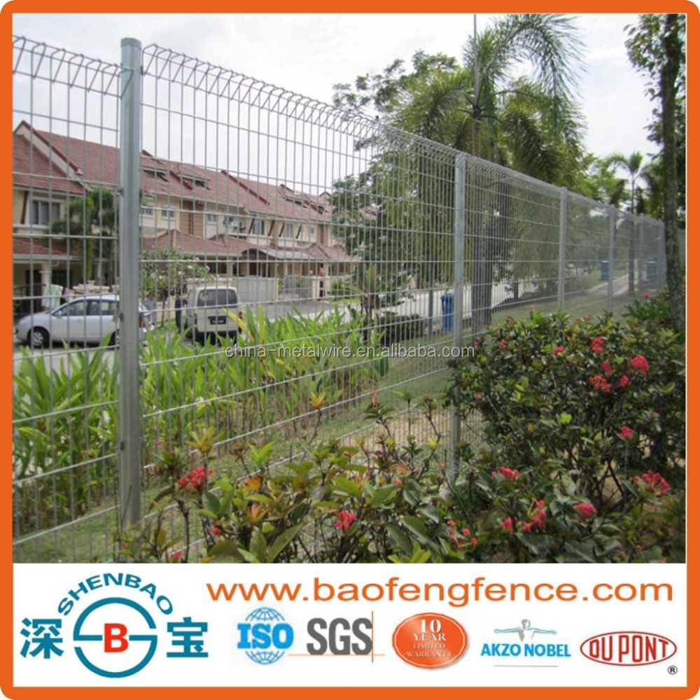 High security powder coated folded fence panel