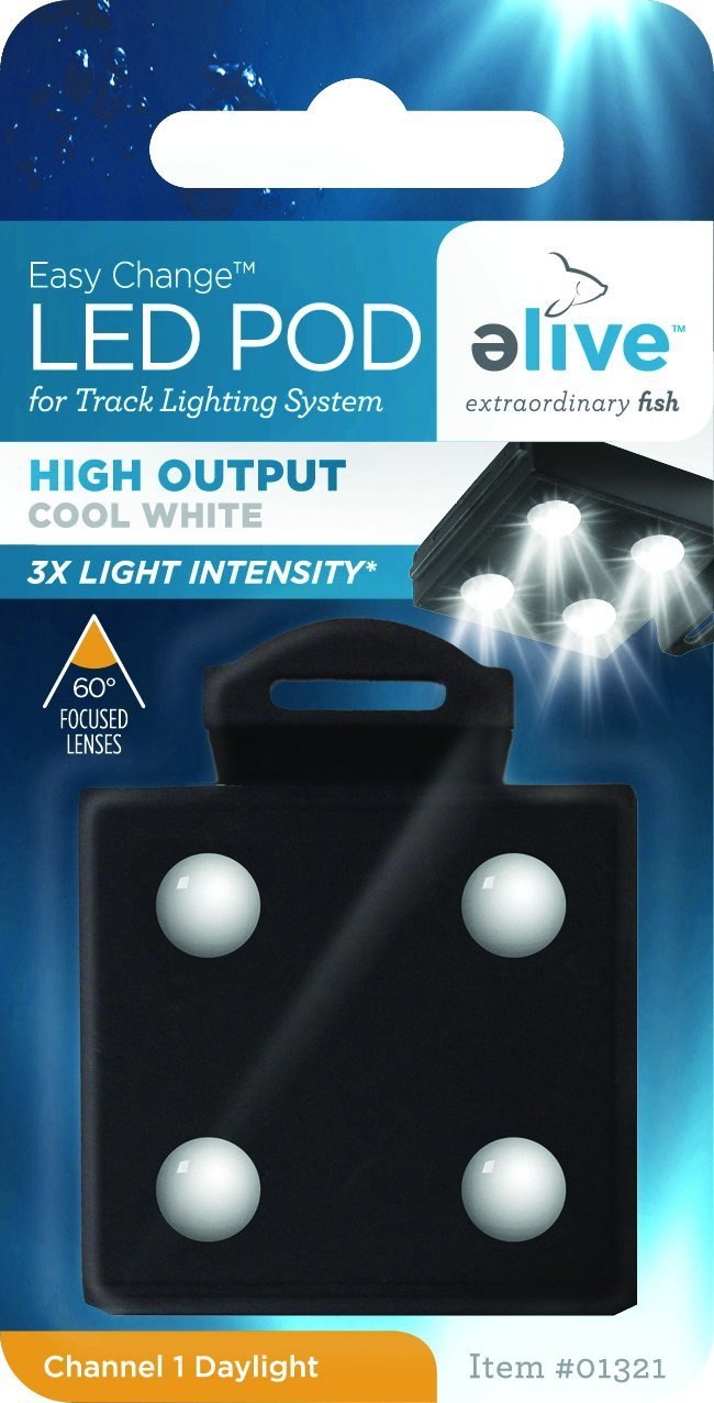 Elive LED Aquarium Fish Tank Pod Lighting - Replacement Pod for LED Track Light, High Output Cool White