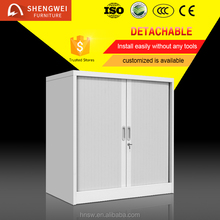 cheap small size shutter style metal cabinet interior rool up door