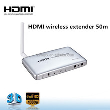 HDMI extender wireless 50m with IR remote control