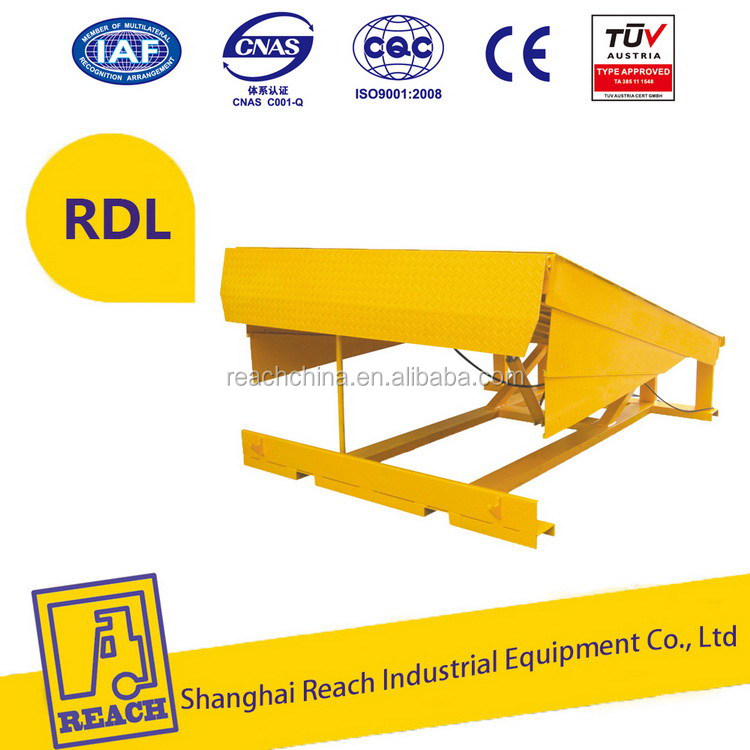 Easy operate new design fixed or stationary 6tons dock leveler