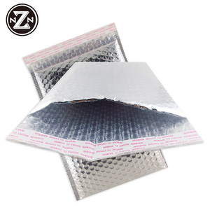 aluminum foil mailing metallic bag custom logo printed glamour padded envelopes self adhesive air bubble courier bags alibaba