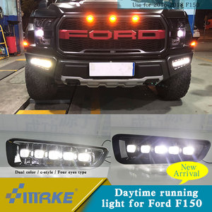 New product led drl for Ford Raptor F-150 2017-2018 led drl fog lamp with signal light