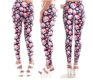 Custom Print Double Brushed Soft Women skull Leggings
