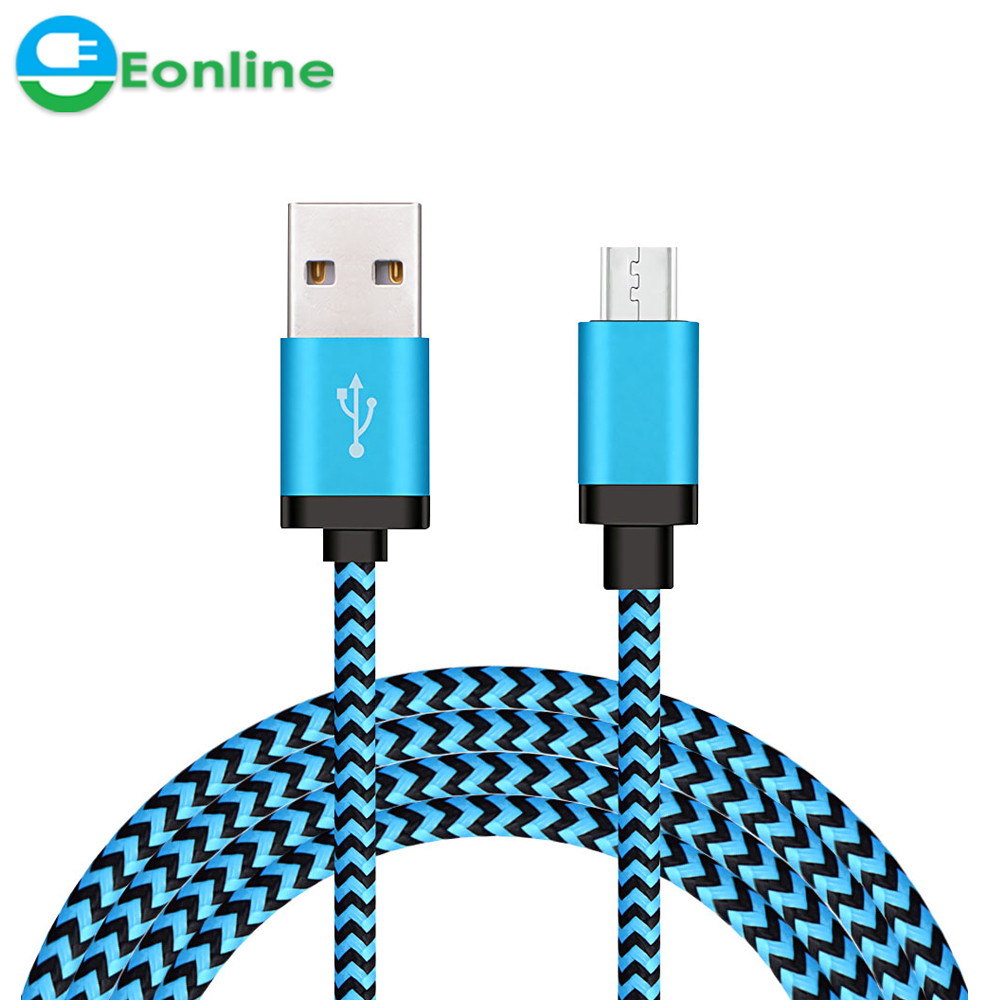 3FT/6FT/9FT Nylon Braid Type C Micro USB for Samsung USB Cable Fast Charging High Speed Data Cable Best USB Charging Cable