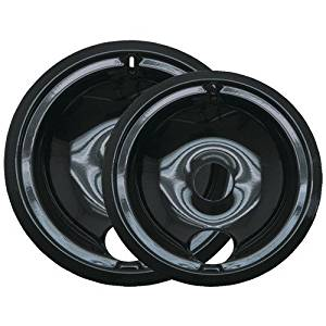 RANGE KLEEN P139402XCD5 BLACK DRIP PANS (PLUG-IN RANGES; FITS MOST GE HOTPOINT KENMORE & RCA MOD
