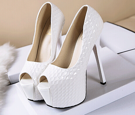 new fashion 16cm women high heel shoes black high heel shoes for ladies