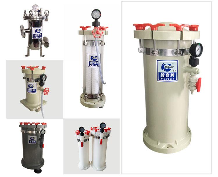 Hot Sale High Temperature Chemicals Acid alkali resistance Plastic Bag Filter Housing for Industry