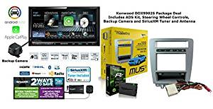 "Kenwood Excelon DDX9902S 6.95"" In Dash DVD Receiver w/ Backup Camera, SiriusXM Satellite Radio, Steering Wheel Controls & ADS Mustang Installation Kit and a FREE SOTS Air Freshener Package"
