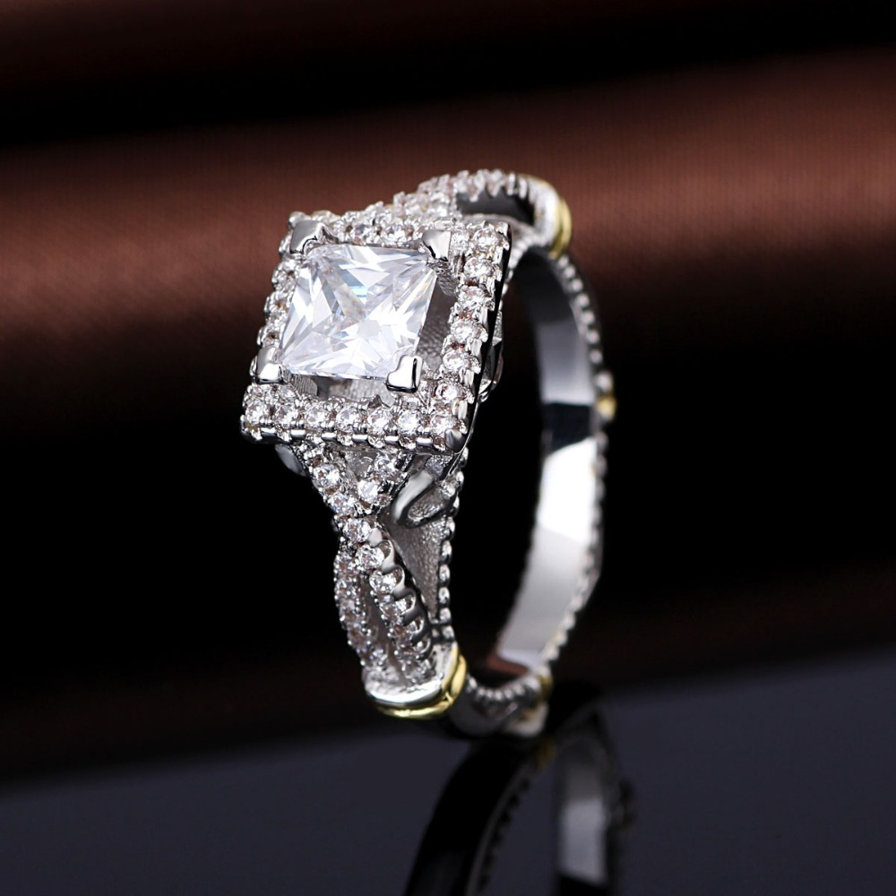 Factory Price Generous White Gold Plating Zircon 925 Italian Silver Men's Diamond Ring