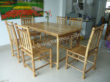 Home Furniture Binh Quoi Bamboo Dining Table Set - Buy Dining Table ...