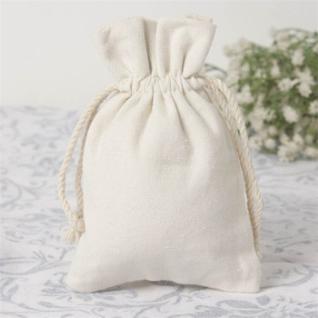 Custom Printed Canvas Drawstring Pouch Fabric Gift Bags Whole Bag Product
