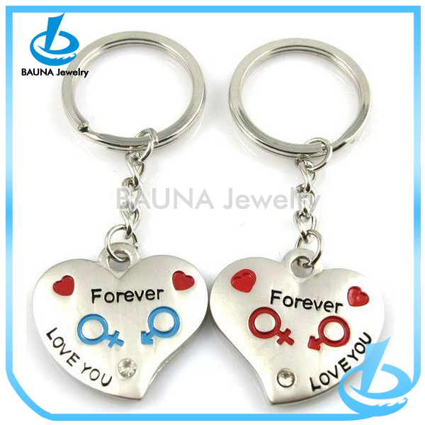 Fancy forever love heart keychain beautiful couple keychain