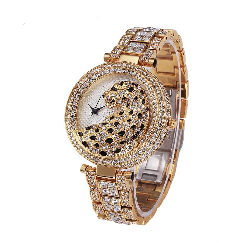 8aaf3294bf25 La señorita Fox de la marca de lujo de leopardo reloj de las mujeres de la