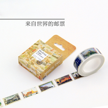 1 Box New Domestic Letter Stamp Lovers And The Entire Roll Of Paper Tape From Around The World 1.5cm * 10m H0137