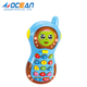 Change face game battery operated plastic mobile phone baby toys music for puzzle