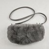 muff real rabbit fur bag purse women winter hand warmer