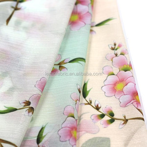 100% Viscose silk chiffon printed fabric for garment