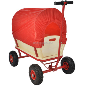 Red kids garden wagon tool cart for TC1812