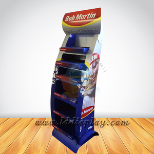 Point-of-Sale custom printing food retail shelf for pet food display