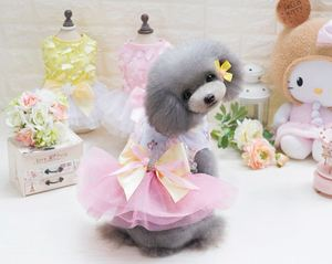 Bowknot Dog Dress Pet Dog Clothes for Small Dog Wedding Dress Skirt Puppy Clothing Spring Pet Clothes Chihuahua Yorkie