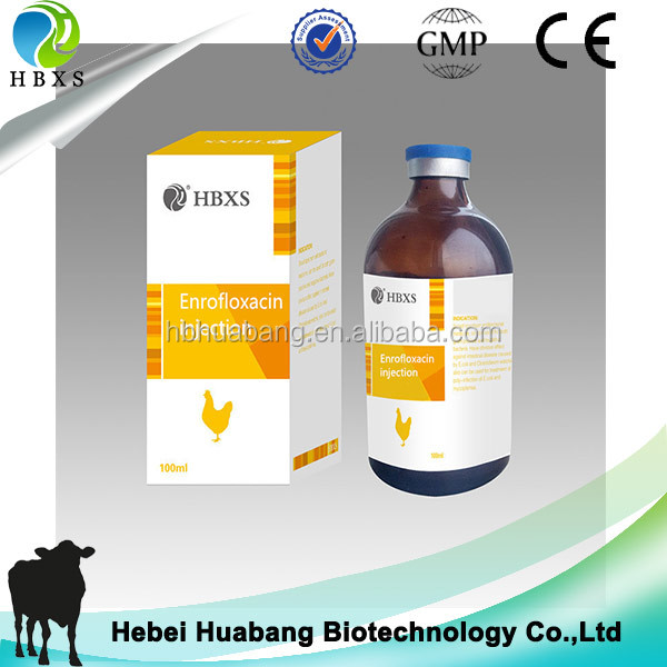 high quality GMP Antibacterial 10% enrofloxacin injection for infections