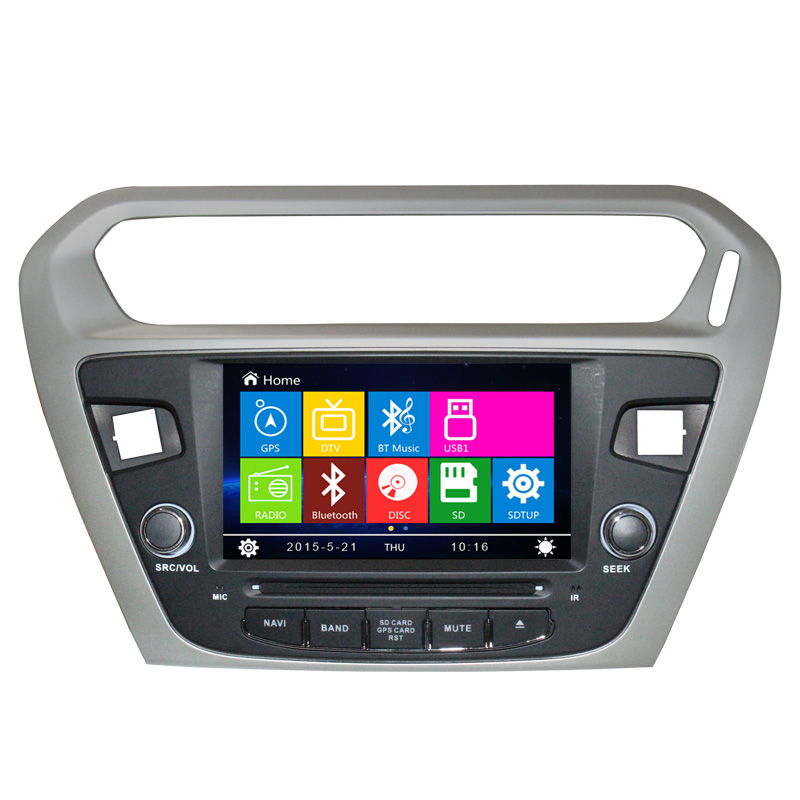 10 2 Android Car DVD GPS Nav Stereo Radio For Citroen Elysee For Peugeot 301 BT